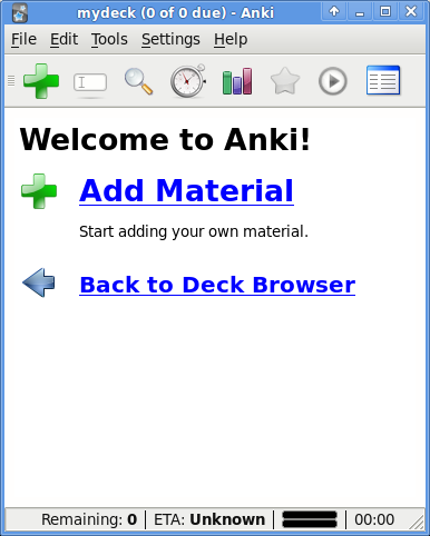 Anki: New Deck Screen